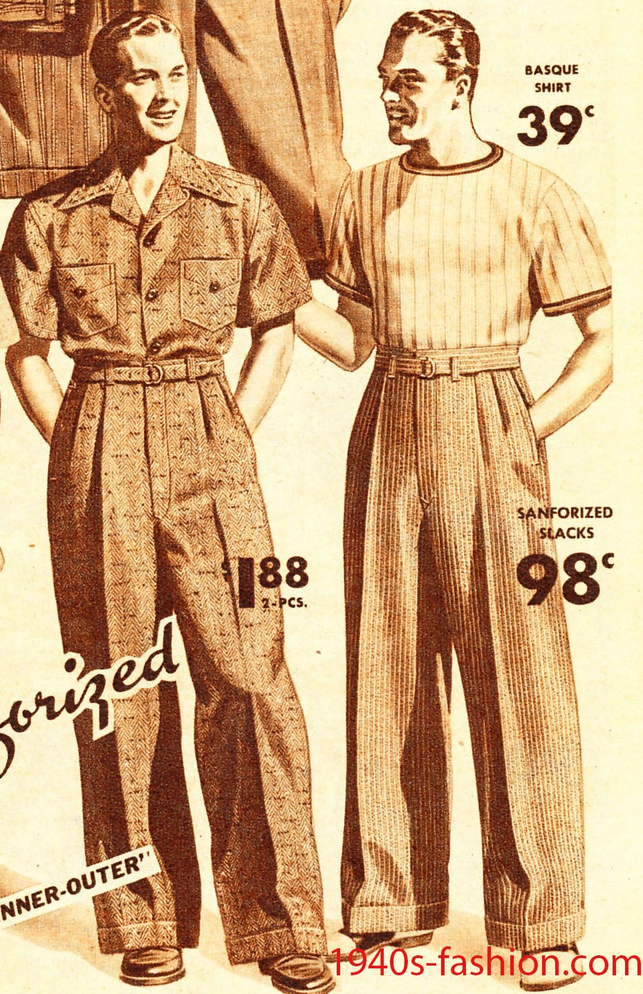 1940s Mens Fashion 1940s Mens Fashion Clothing Styles