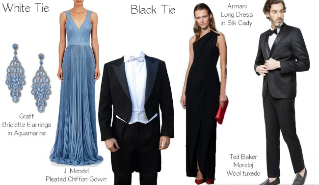 Black tie wedding guest long dresses