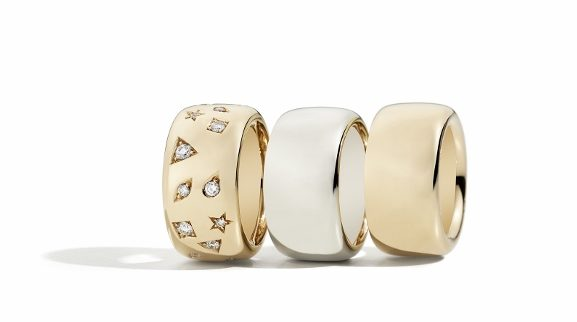 Gold Collection band rings by Pomellato